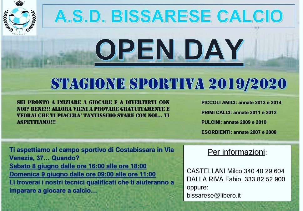 L'Open Day di giugno