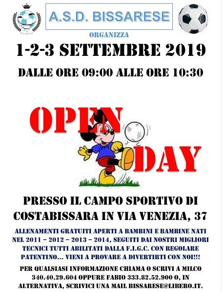 A inizio settembre l'Open Day